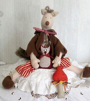 Freundlicher Fuchs mit Eule ✿ Puppe ✿ Herbst Halloween ✿ Zu Tilda – Landhausstil