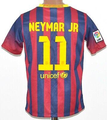 63c848a8a29 BARCELONA 2013/2014 HOME FOOTBALL SHIRT JERSEY #11 NEYMAR NIKE SIZE XL KIDS