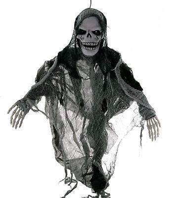 Halloween Sensemann animiert mit Funktion Licht & Sound - Animierte Halloween Dekoration