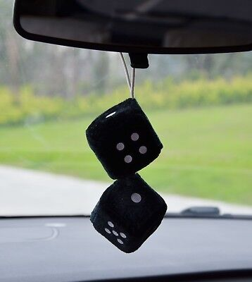 Nice velour type dice car  air freshener 2 x 2 inches to hang from mirror  Apple