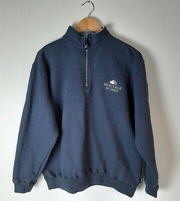 Nautica Sweatshirt 1/4 Zip Meritage Homes Logo Navy Cotton Blend Small (E)