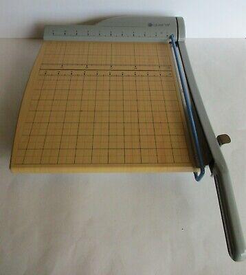 Quartet Wooden Paper Cutter Trimmer 9112 Heavy Duty Made In Usa