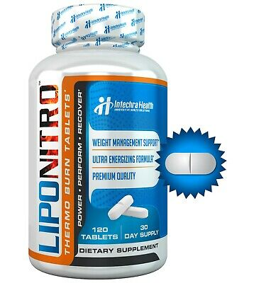 LipoNitro Ultra Fat Burning Diet Pills with Nitro Energy 120 Tablets