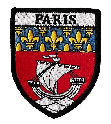Patche ville PARIS écusson blason transfert patch thermocollant armoiries