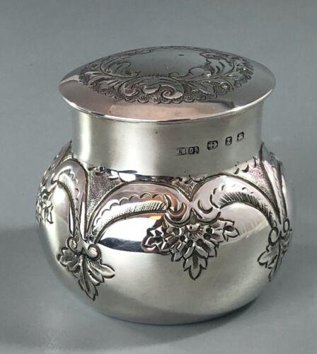 Victorian Silver Tea Caddy M Bros Birmingham 1899 103g AZX