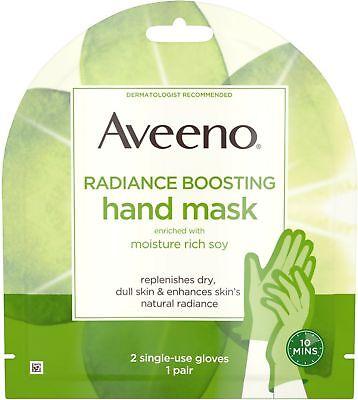 Aveeno Radiance Mask, Moisturizing Single-Use Hand Gloves, Paraben-Free, 1 ea (Moisturizing Glove Moisturizer)
