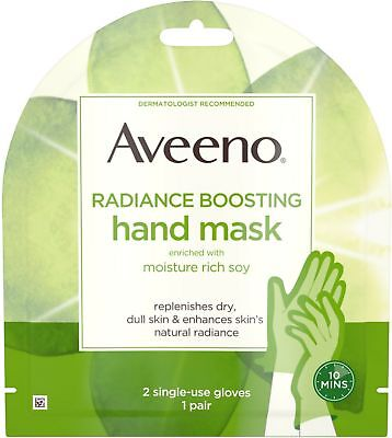 Aveeno Radiance Mask, Moisturizing Single-Use Hand Gloves, P