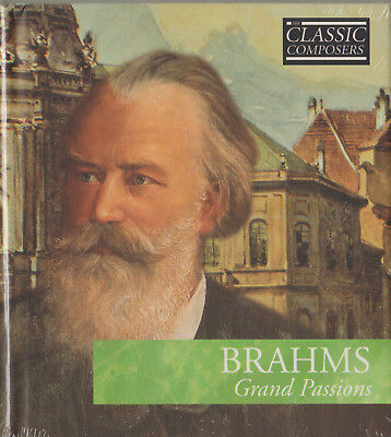 CD - BRAHMS - GRAND PASSIONS + 10 PAGES HARDBACK BOOK - NEW - SEALED