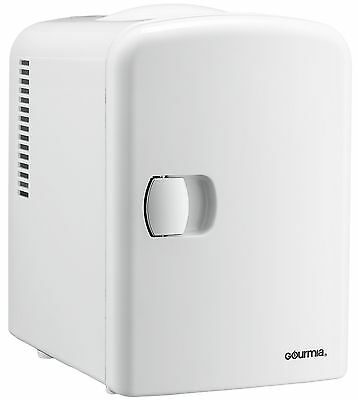 Gourmia GMF600 Portable 6 Can Mini Fridge Cooler and Warmer White - 110V