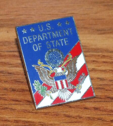 Unbranded U.S Department of State Red White & Blue Collectible Pin / Brooch!