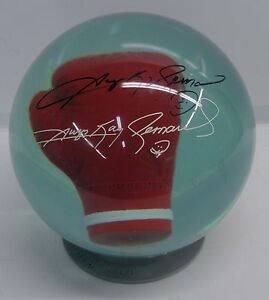 Sugar-Ray-Leonard-Autograph-Bowling-Ball-Track-NOT-DRILLED-RARE-PBA