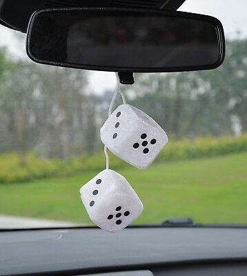 Nice velour type dice car  air freshener 2 x 2 inches to hang from mirror strawb