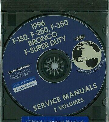 1996 FORD TRUCK SHOP  MANUAL ON CD-F-150, F-250, F-350, BRONCO & F-SUPER DUTY ()