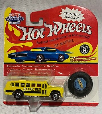 Hot Wheels Vintage Funny Car  S'COOL BUS Mint 1970 China Redline 1993 Reissue