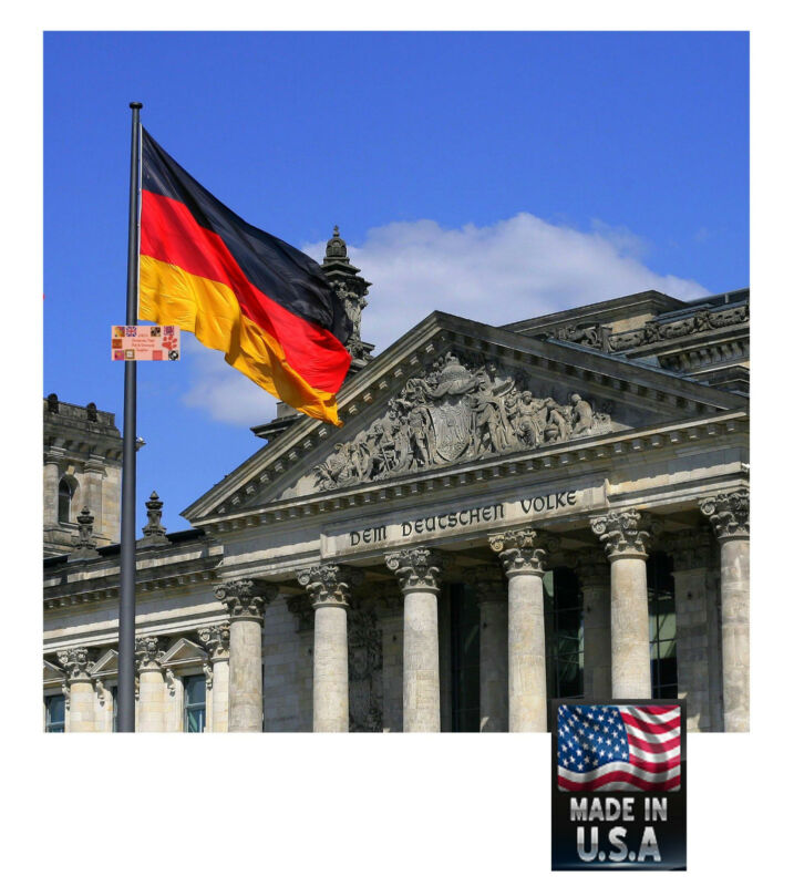 GERMAN GERMANY Deutschland 3x5 Super-Poly Indoor/Outdoor FLAG Banner*USA MADE