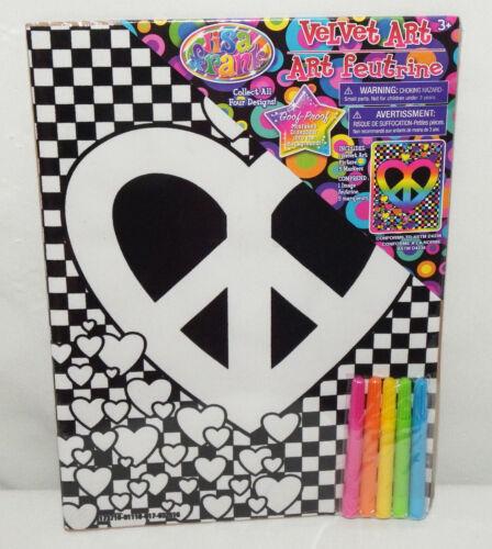 New Lisa Frank Peace Heart Velvet Art