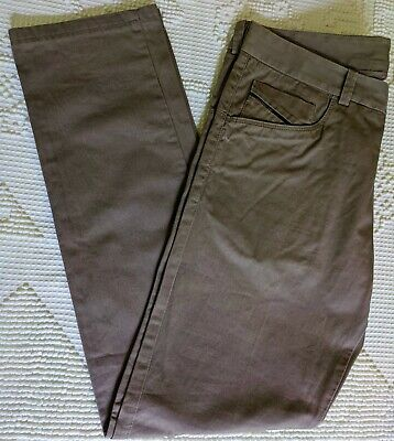 DIESEL Black Gold Men's Cotton Chino Brown Pants Size 31 (W33 in x L30 in)