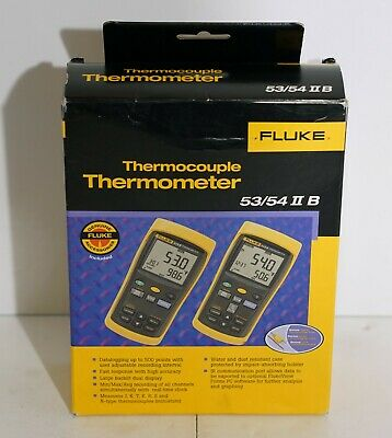 Fluke 53-2b 53 Ii B 60hz Single Input Data Logging Thermocouple Thermometer Usb