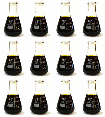 Case Of 12 - 250ml Erlenmeyer Conical Flasks Glass - Premium Borosilicate 3.3