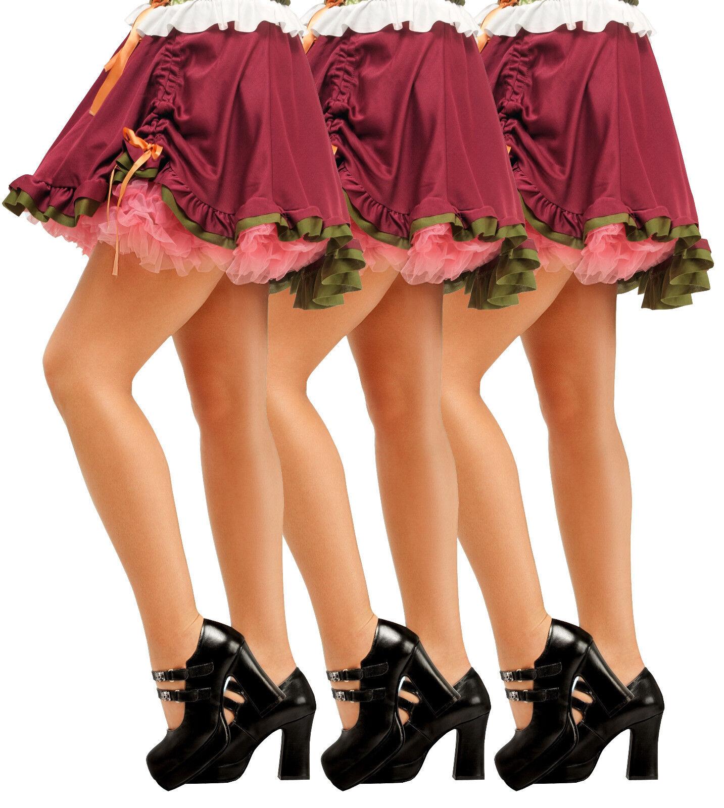 3 Paar Damen Dirndl Strumpfhose Feinstrumpfhose 20Den Glanzstrumpfhose Trachten