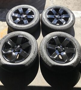 "16"" black rims w 205/60/16 General all seasons 80% tread 5x114.3"