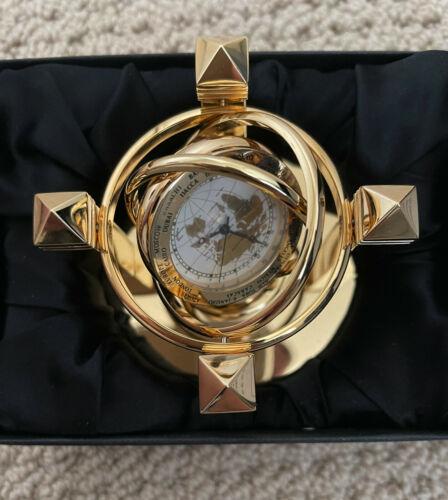 Benchmark World Gyroscope Desk Clock Brass