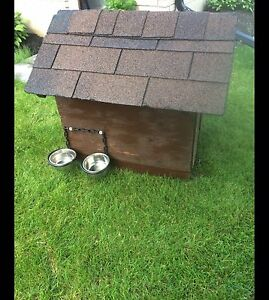 Solid fully insulated dog house.