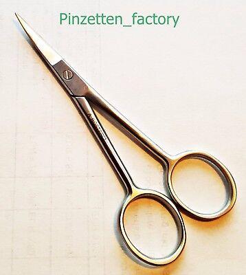 Bartschere mit microzahnung und gebogene spitze 11,5cm, Rostfreiem Edelstahl, - Gebogene Spitze