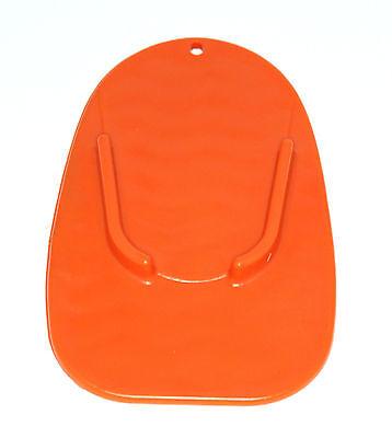Plastic Motorcycle Kickstand Plate Biker Kick Stand Pad Orange Harley Honda - Orange Plastic Plates