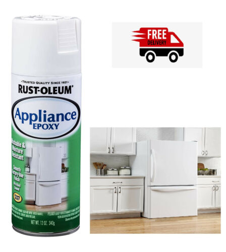 Rust-Oleum White Spray Paint 12 oz. Touch Up Appliance Gloss Finish Epoxy pace