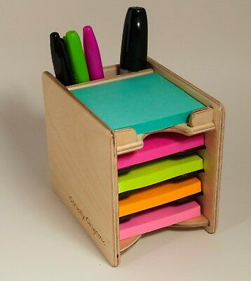 Sticky Notes Post-it Pad And Pen Holder Includes 5 Pads 3 X 3
