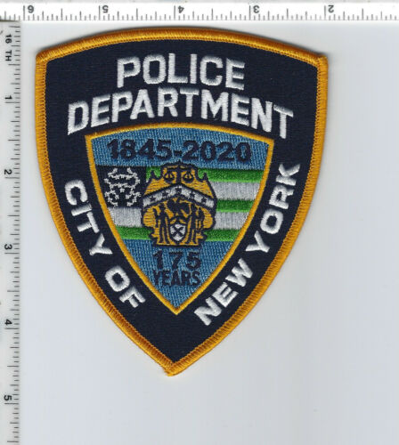 175th Anniversary Shoulder Patch - New York City Police Dept 1845-2020