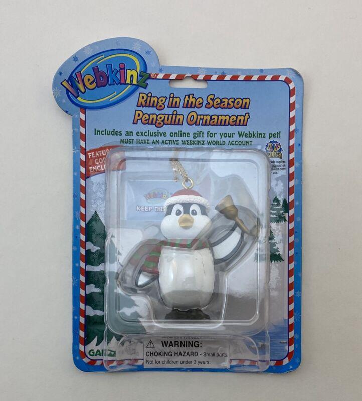 Webkinz Ring in the Season Penguin Christmas Ornament New w/ Unused Code NIP