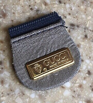 Vintage Authentic GUCCI Gold Tone Replacement Metal Bar Logo Plate for Bag