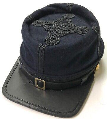 CIVIL WAR US UNION INFANTRY LT. COLONEL MAJOR OFFICER WOOL KEPI CAP HAT-XLARGE Civil War Officer Hat
