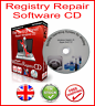 REGISTRY CLEANER FIX SLOW PC REPAIR ERRORS SOFTWARE CD + WINDOWS XP VISTA 7 8 10