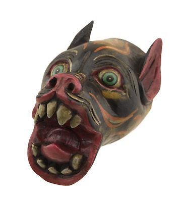 Small Mask nepal Tigre tibetan 14cm Protection Ritual Shaman 26124 W4