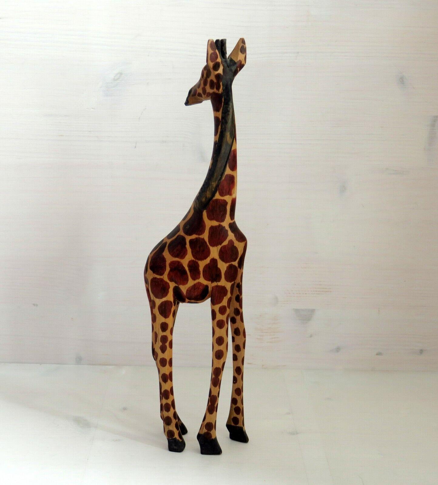 Holz-Giraffe 30 cm hoch / schön gemustert / Handarbeit / Deko / Skulptur