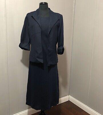 Jessica Howard 2 Piece Jacket Dress Size 10 Nwt NAVY BLUE  In Color  2 Piece Blue Dress