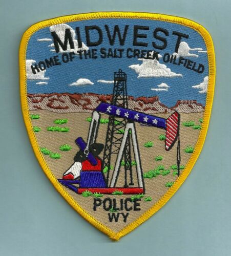 MIDWEST WYOMING POLICE SHOULDER PATCH