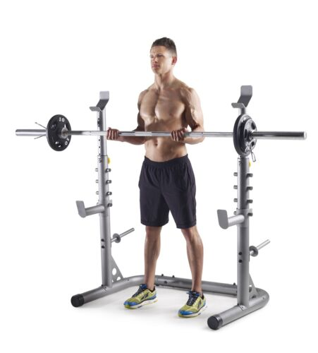 Weider XRS 20 Olympic Squat Rack with Adjustable Safety Spot