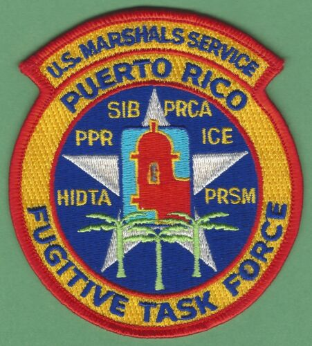 UNITED STATES MARSHAL SERVICE PUERTO RICO FUGITIVE TASK FORCE SHOULDER PATCH