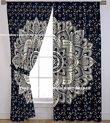 Ombre Mandala Indischen Vorhang Hippie Wand Hängende Tür Fenster Große Vorhänge ()