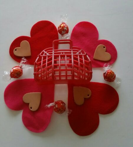 RED Heart Felt Shape (pack of 4) Made in the USA