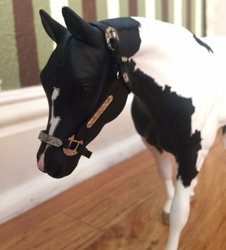 authentic Leather Halter For Model Horses.