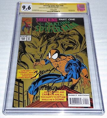 Amazing Spider-Man #390 3x CGC SS Signature Autograph STAN LEE BAGLEY Collectors