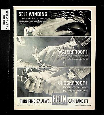 1961 Self-Winding Fine 27-Jewel Elgin Watch Vintage Print Ad 016297