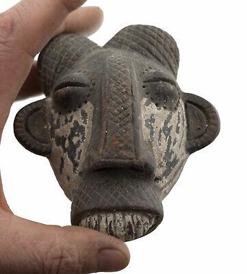 Masquette Ibibio Votive Mask Diminutive Terracotta Art African Fetish 262