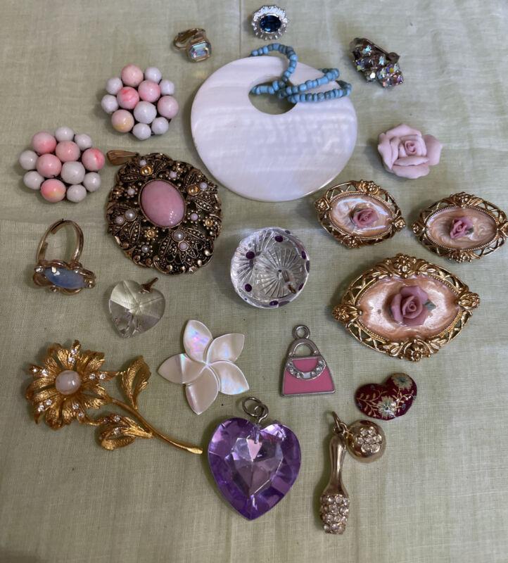 Vintage Rhinestone Crafting Jewelry Part Repair Harvest Repurpose CRF6-49