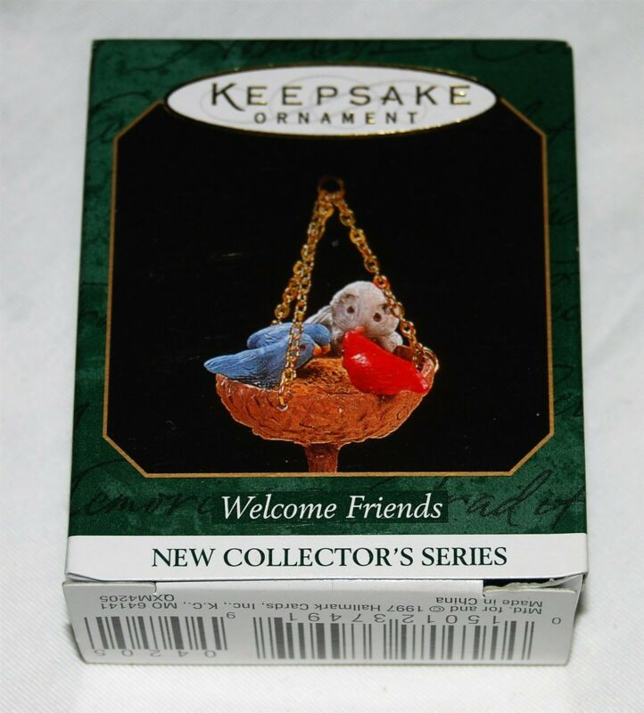 Hallmark Miniature Ornament NEW in box 1997 Welcome Friends